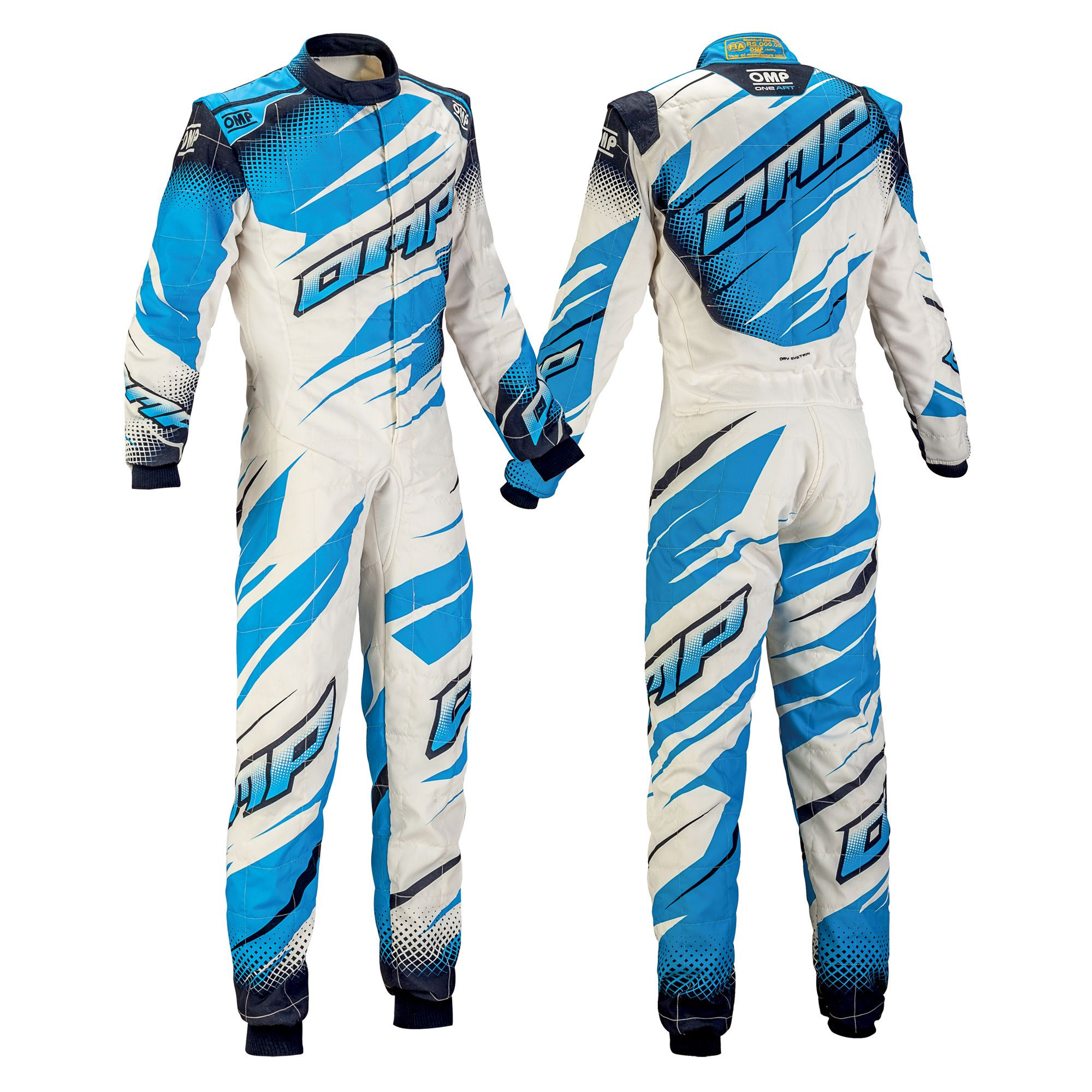 Omp One Art Race Suit White Navy Blue Cyan Clothes Design First Art Racing