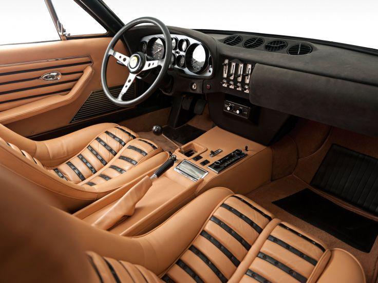 1973 Ferrari 365 GTB4 Daytona US-spec supercar classic interior f wallpaper background