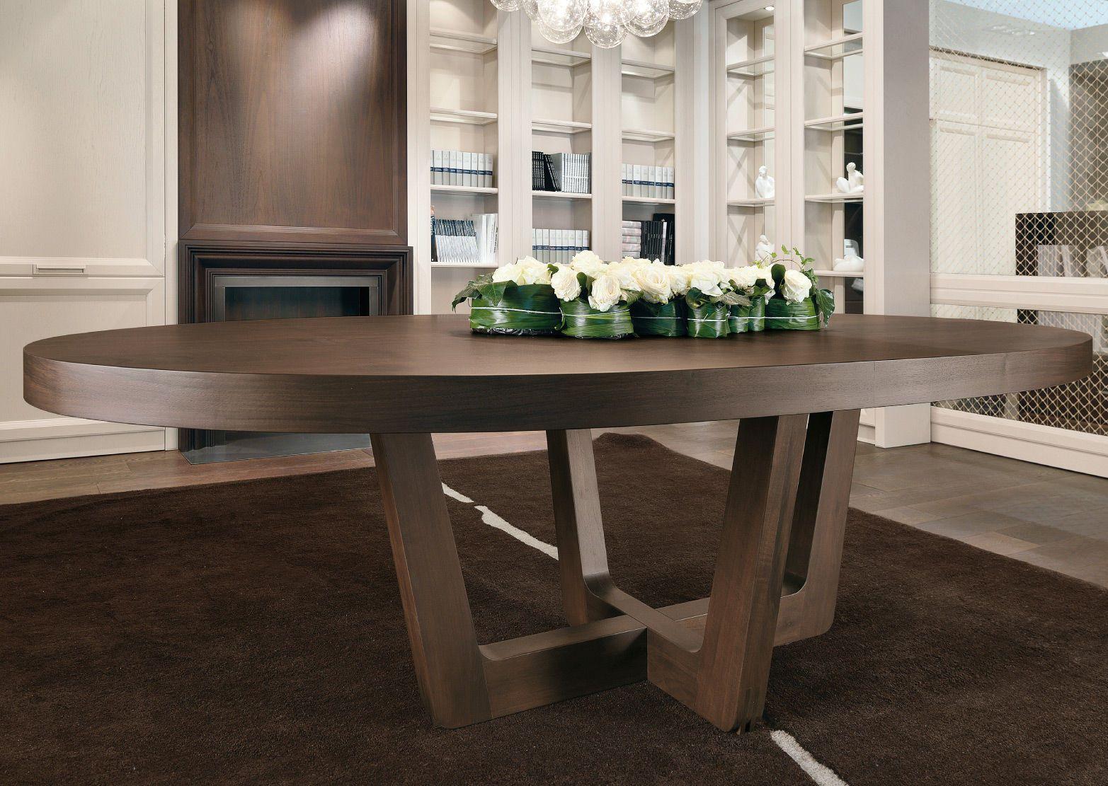 Mesa moderna de madera ovalada castagna cucine decoraci n sal n pinterest - Mesa salon moderna ...