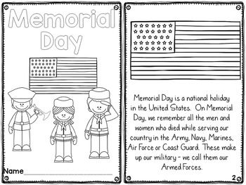Memorial Day Activities Differentiated Readers With Images
