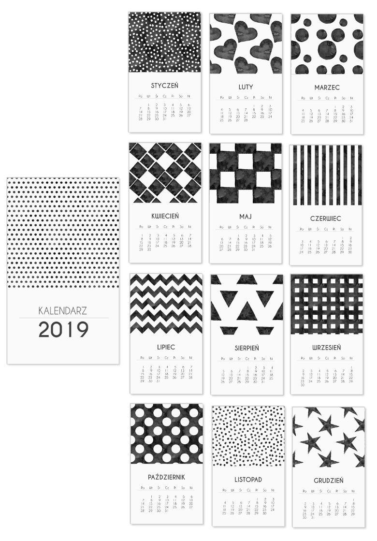 Kalendarz 2019 Do Druku P R I N T A B L E Pinterest Filofax