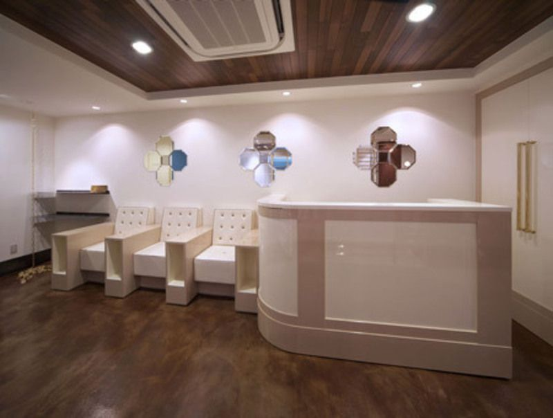 beauty salon design ideas design bookmark reception desk - Beauty Salon Design Ideas
