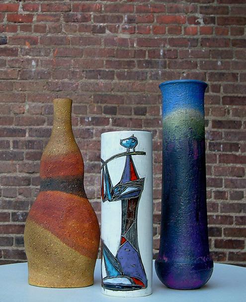 3 Fantoni Vases Italian Pottery Mid Century Pinterest Pottery