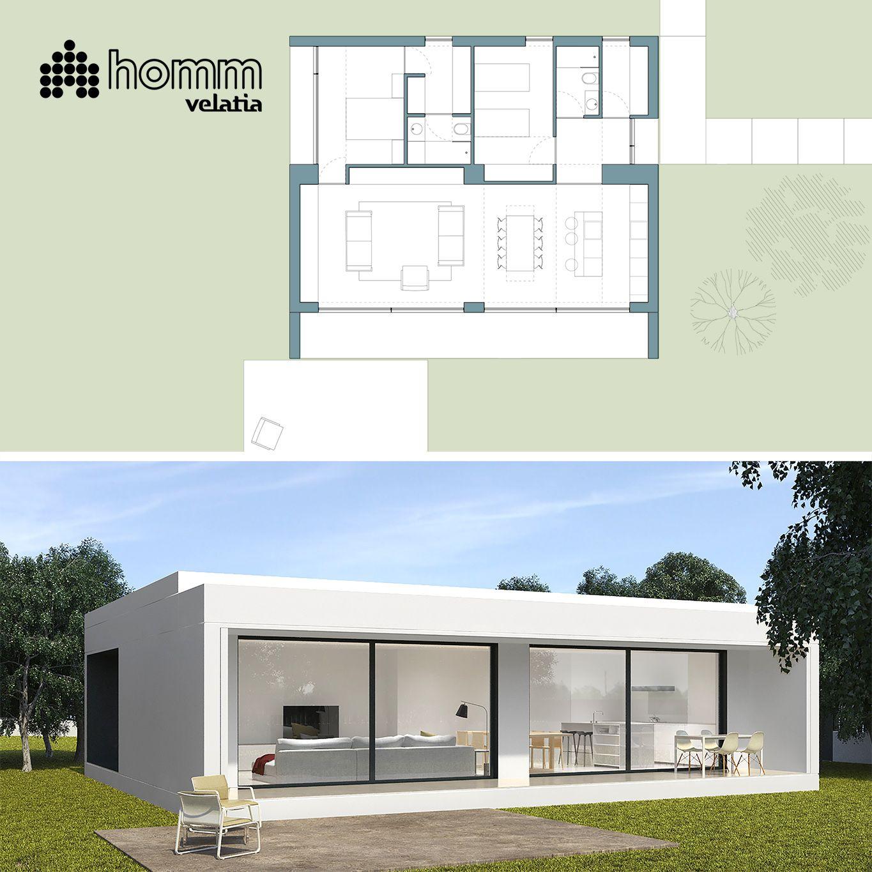 Qu os parece esta casa de 108 m2 con un porche de 18 m2 - Que es un porche en arquitectura ...