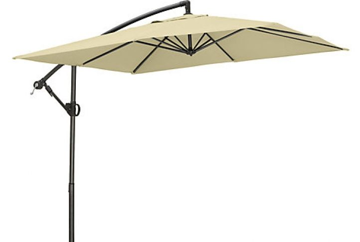 4f13372b610d John Lewis Freestanding Square Parasol, Dia.2.5m, Oyster   Absolute Home
