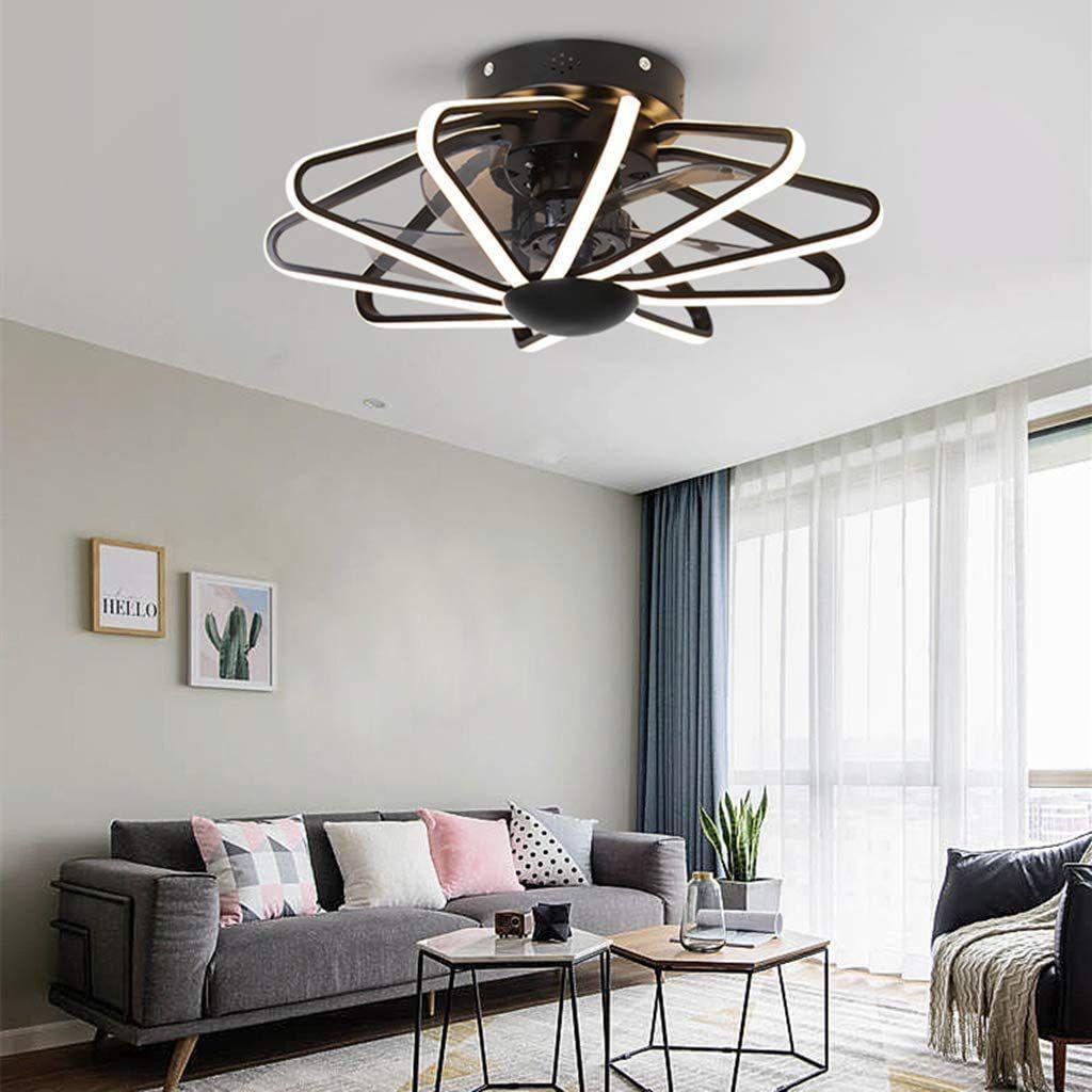 Oujie Led Plafondventilator Met Lamp En Afstandsbediening Moderne Plafondventilator Lamp Slaapkamer Plafondventilator Lampen Voor Slaapkamer Thuisdecoratie