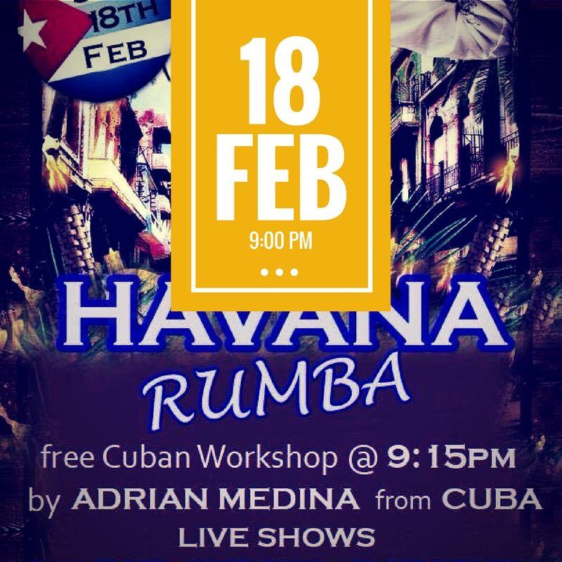 Definitivamente la Rumba Cubana esta de moda en #Sydney. Enjoy the Havana Rumba @AlbionPlaceHotel this Sat 18 Feb -