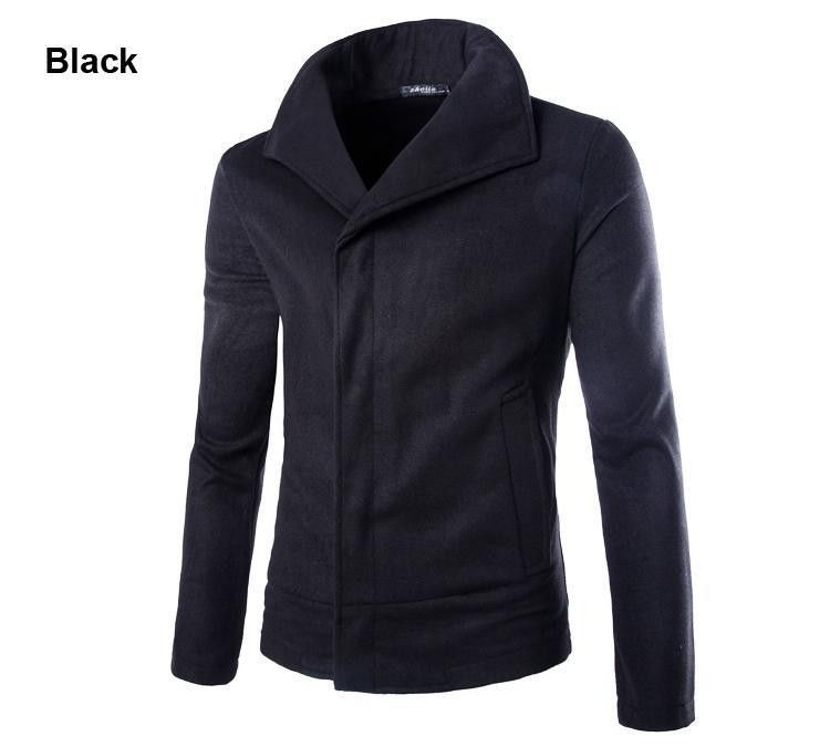 Korean Style Top Designed 2015 New Fashion Autumn Slim Sexy Mens Jacket Coat Solid Wool Casual Color Jacket Men Outwear