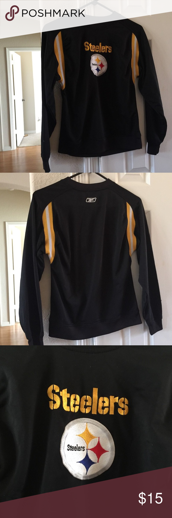 """df83b5846 Youth Reebok NFL Pittsburgh Steelers jersey S Condition  Used   """"No rips"""