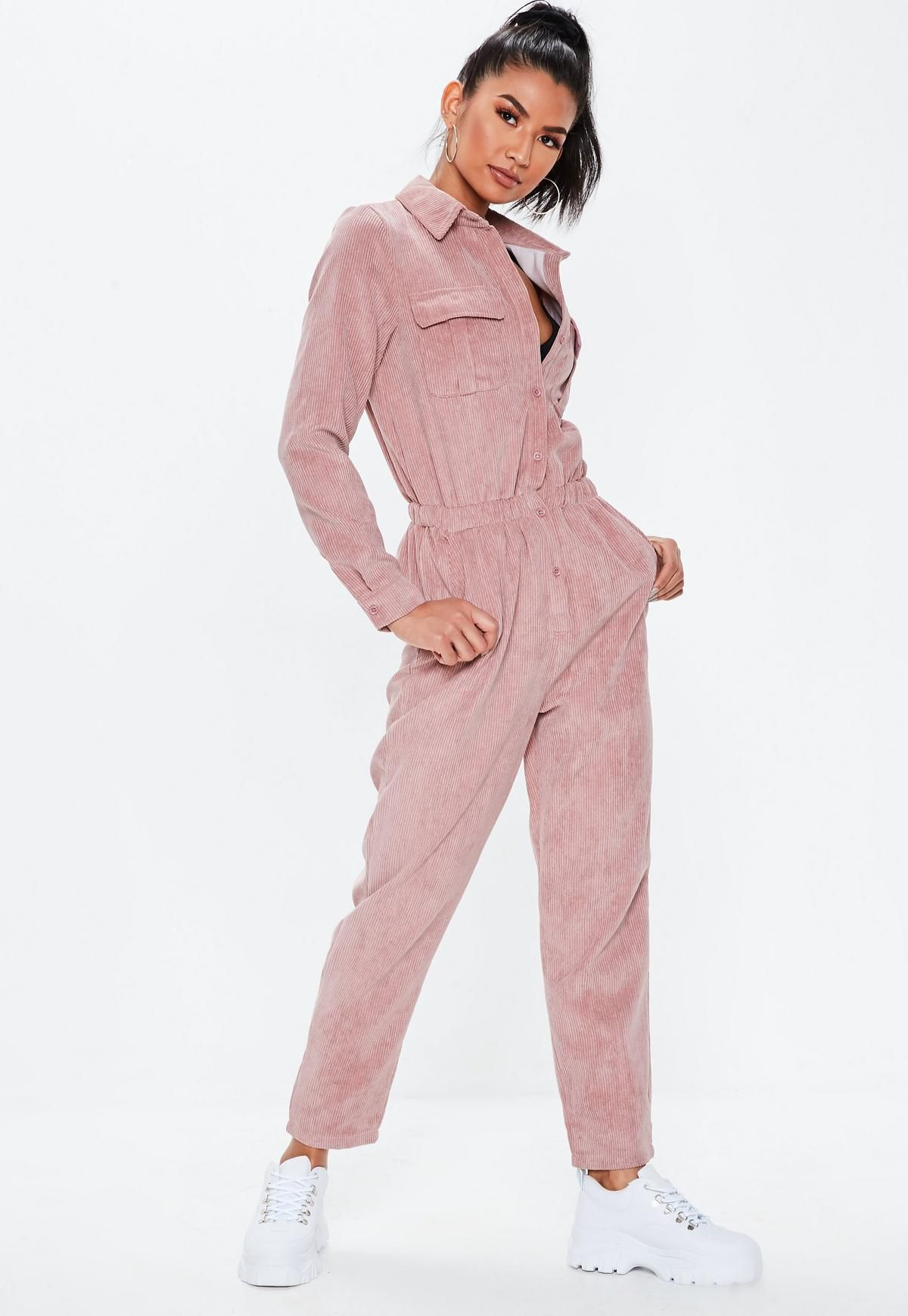 f0b24fc4381d Missguided - Blush Cord Utility Jumpsuit in 2019