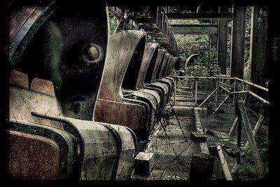 Planterwald, an abandoned amusement park in East Berlin, Germany.  Dennis Gerbeckx on Flickr.