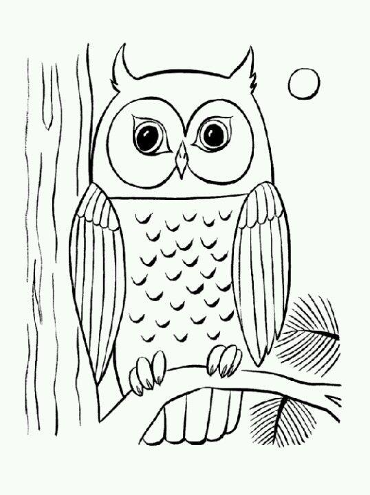 eule für kinderzimmer baum | kinder | eulen zeichnen
