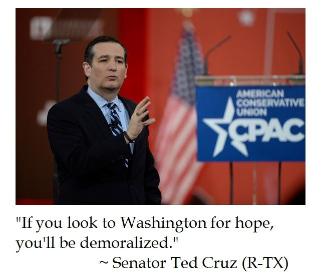 Ted Cruz Quotes Beauteous Ted Cruz On Hope Our Government And The Mad Ass Mess That It Is Sad .
