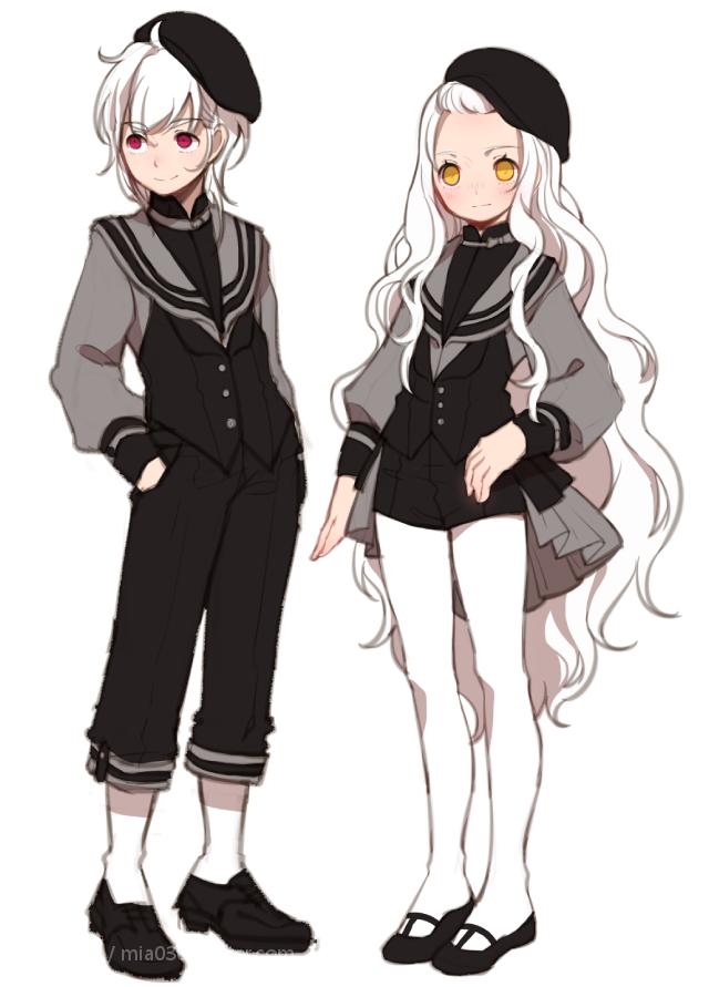 Cute Sailor Uniforms Character design inspiration, Anime
