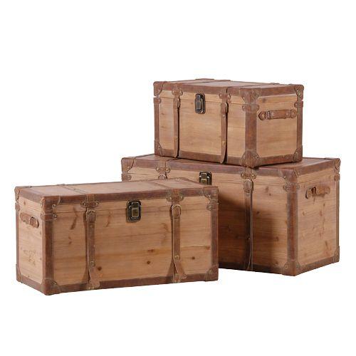 Exceptionnel Woodland Set Of 3 Storage Trunks, Alexander U0026 Pearl