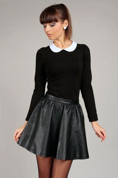 Bluzka Z Kolnierzykiem Pensjonarka Czarna 38 Kar 4777293741 Oficjalne Archiwum Allegro Fashion Mini Dress Dresses