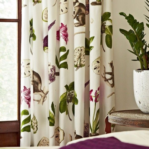 Sanderson Capuchins Ready Made Curtains 90x90 Inches Just