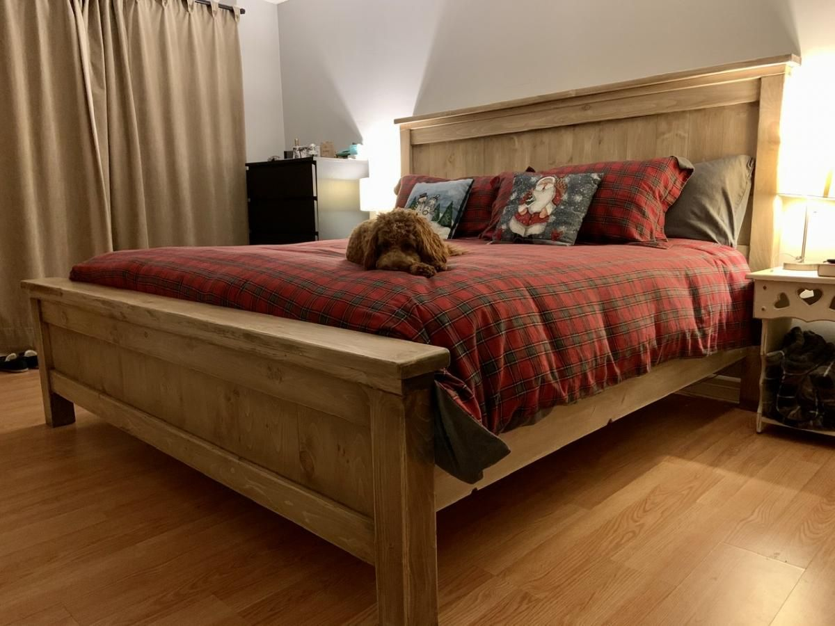 Farmhouse Bed Canadian King Ana White (With images