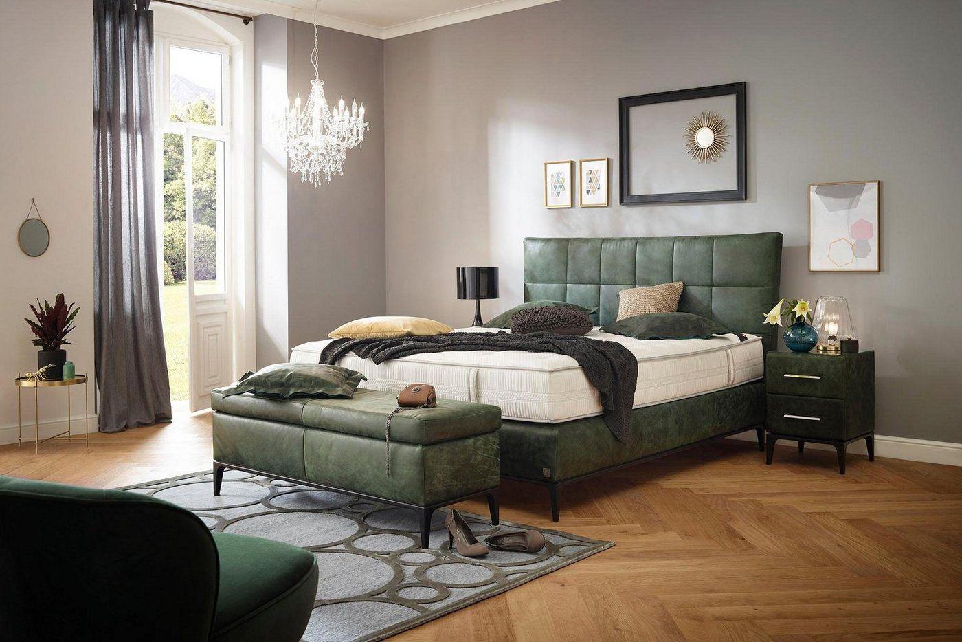 Boxspringbett »Smart Elegance«, 180×200 cm, H2, grün, ADA premium