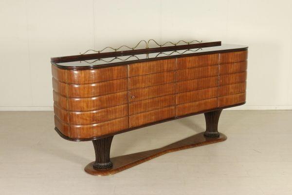 Mobili Piccoli ~ Mobile buffet dalla linea mossa; legno impiallacciato palissandro