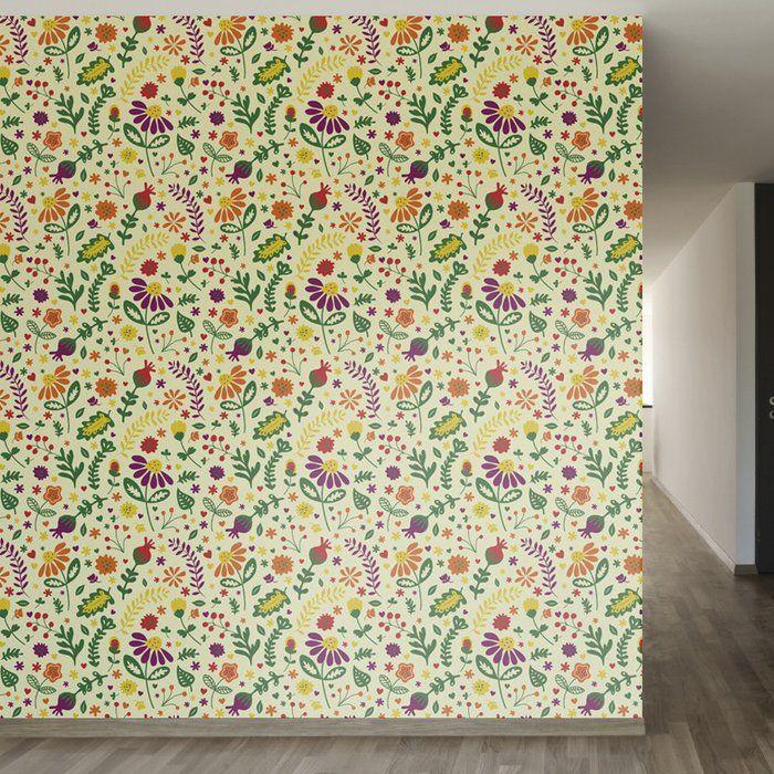 """Olivas 33' L x 20.5"""" W Peel and Stick Wallpaper Roll"""