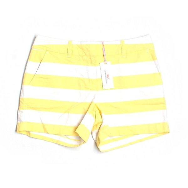 Pre-owned Vineyard Vines Khaki Shorts ($39) ❤ liked on Polyvore featuring shorts, yellow, yellow khaki shorts, khaki shorts, vineyard vines, vineyard vines shorts and yellow shorts