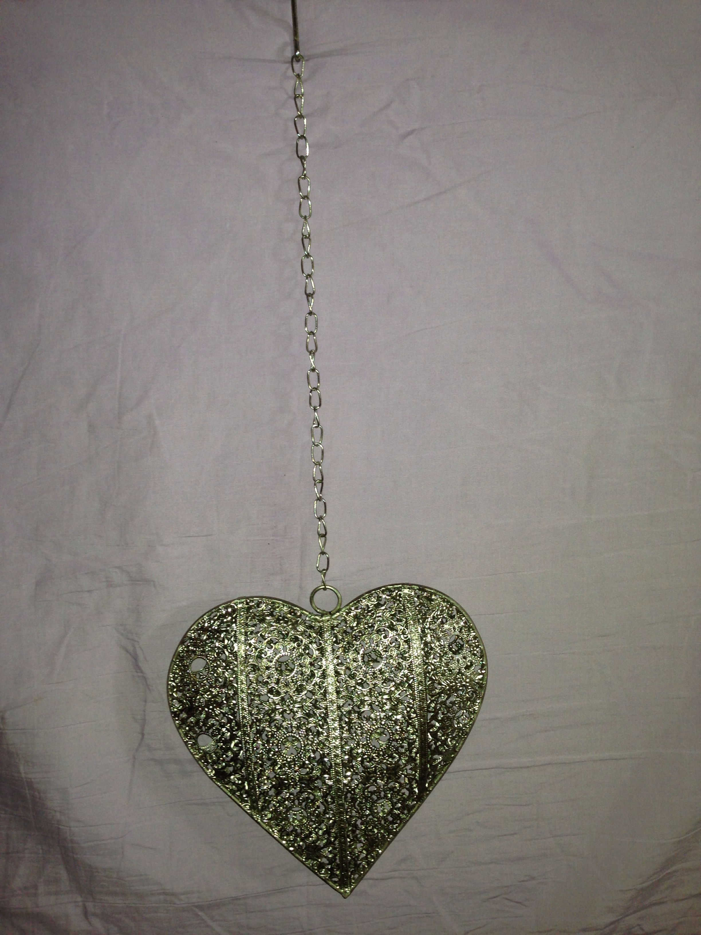 Hanging Silver Heart 10 From Jolly Ollie S Home Decor Ceiling Lights Decor