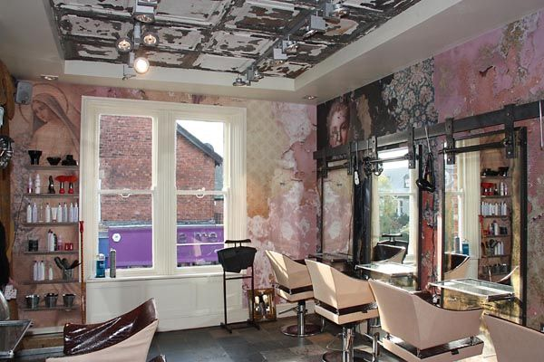 wow the walls are stunning boilerhouse jesmond hair. Black Bedroom Furniture Sets. Home Design Ideas