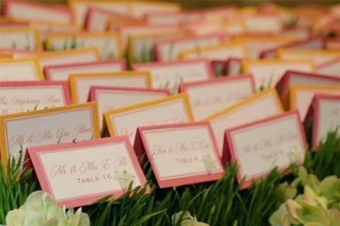 Spring Colored Place Cards