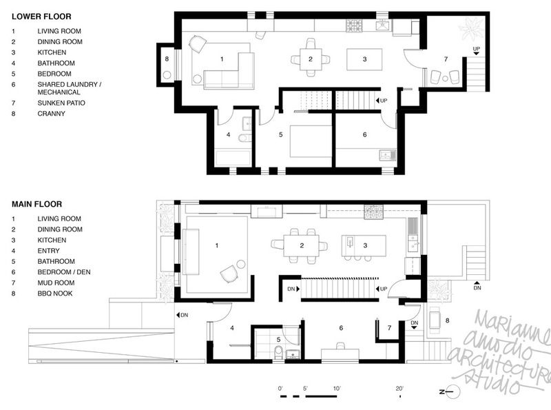 Houzz Tour Innovative Home Reunites Generations Under One Roof Case Study Houses Floor Plans House Design