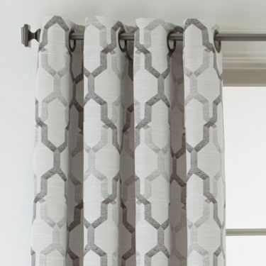 Studio Casey Jacquard Grommet Top Curtain Panel Grommet Top