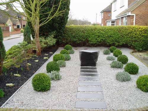 Small and front gardens.: Japanese inspired front garden ...