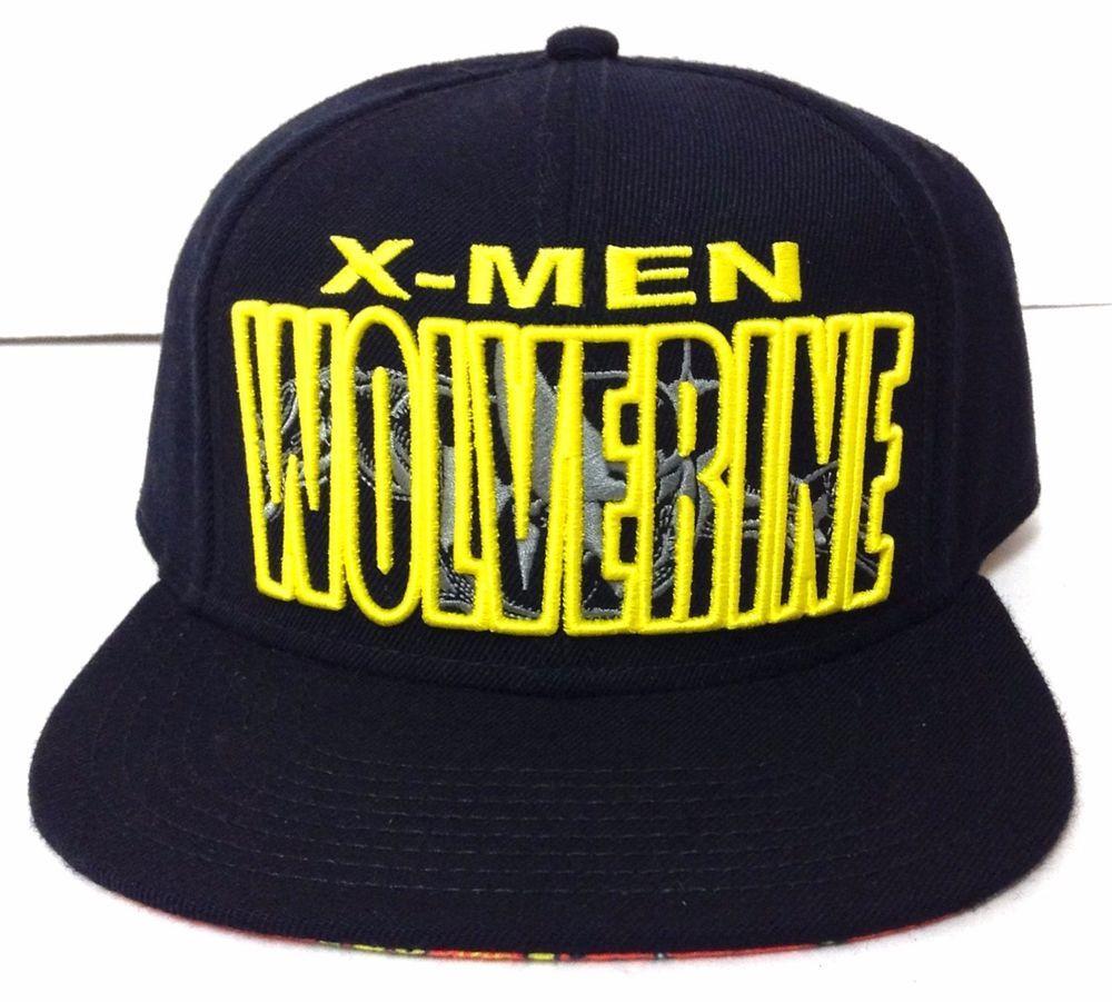 aba7b6b4c New X-MEN WOLVERINE SNAPBACK HAT Black&Yellow Marvel Comic Flat-Bill ...