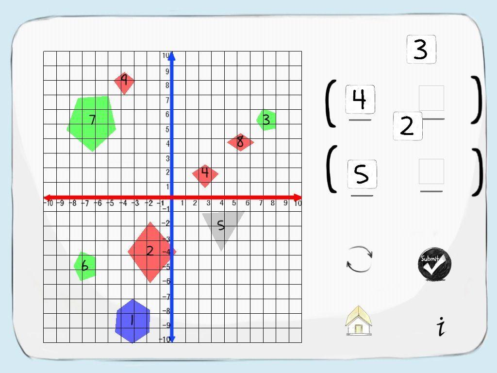 Pair Game Grid Lines Ordered Pair Game App