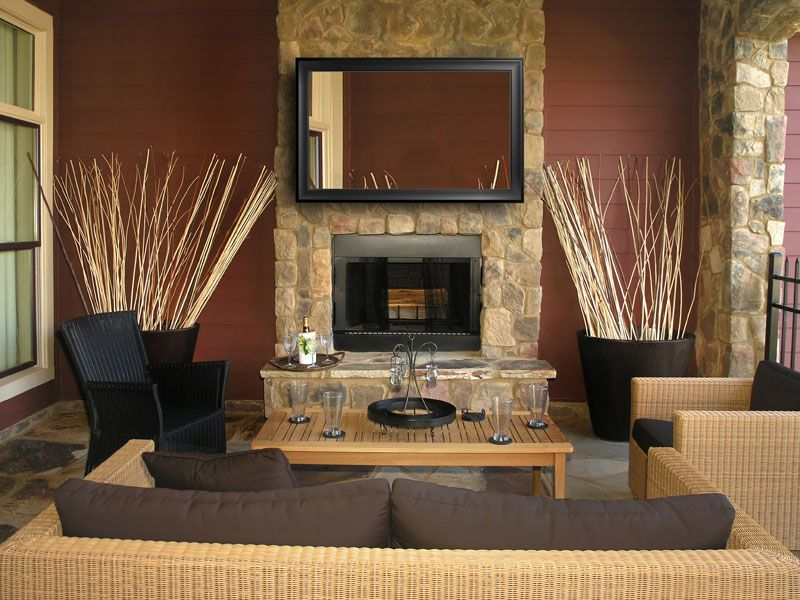 Chimney Mirror Tv Tv Above Fireplace Stone Fireplace Designs Fireplace Design