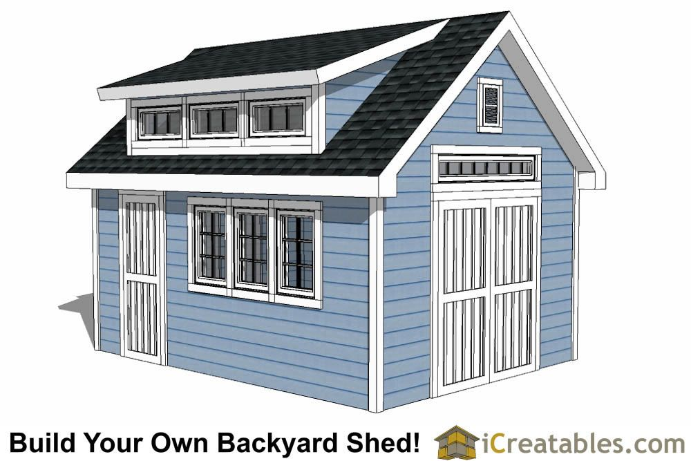 12x16 Shed Plans With Dormer Icreatables Com Shed Design Diy Shed Plans Shed Plans 12x16