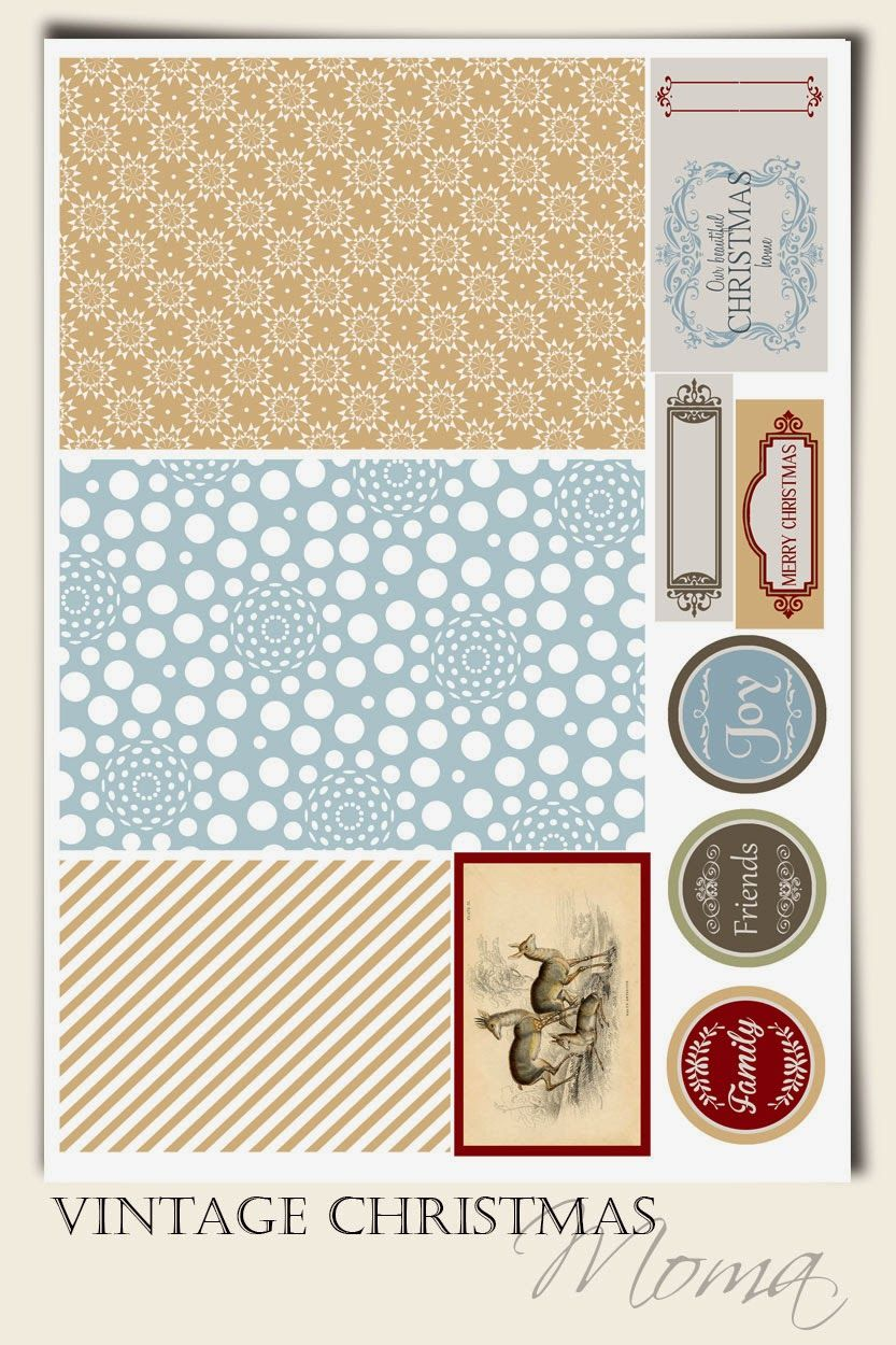 FREE MOMA - SWEETER WITH SUGAR : Vintage Christmas { English and Swedish version} : Free Printables Freebie Project Life Pocket Scrapbooking