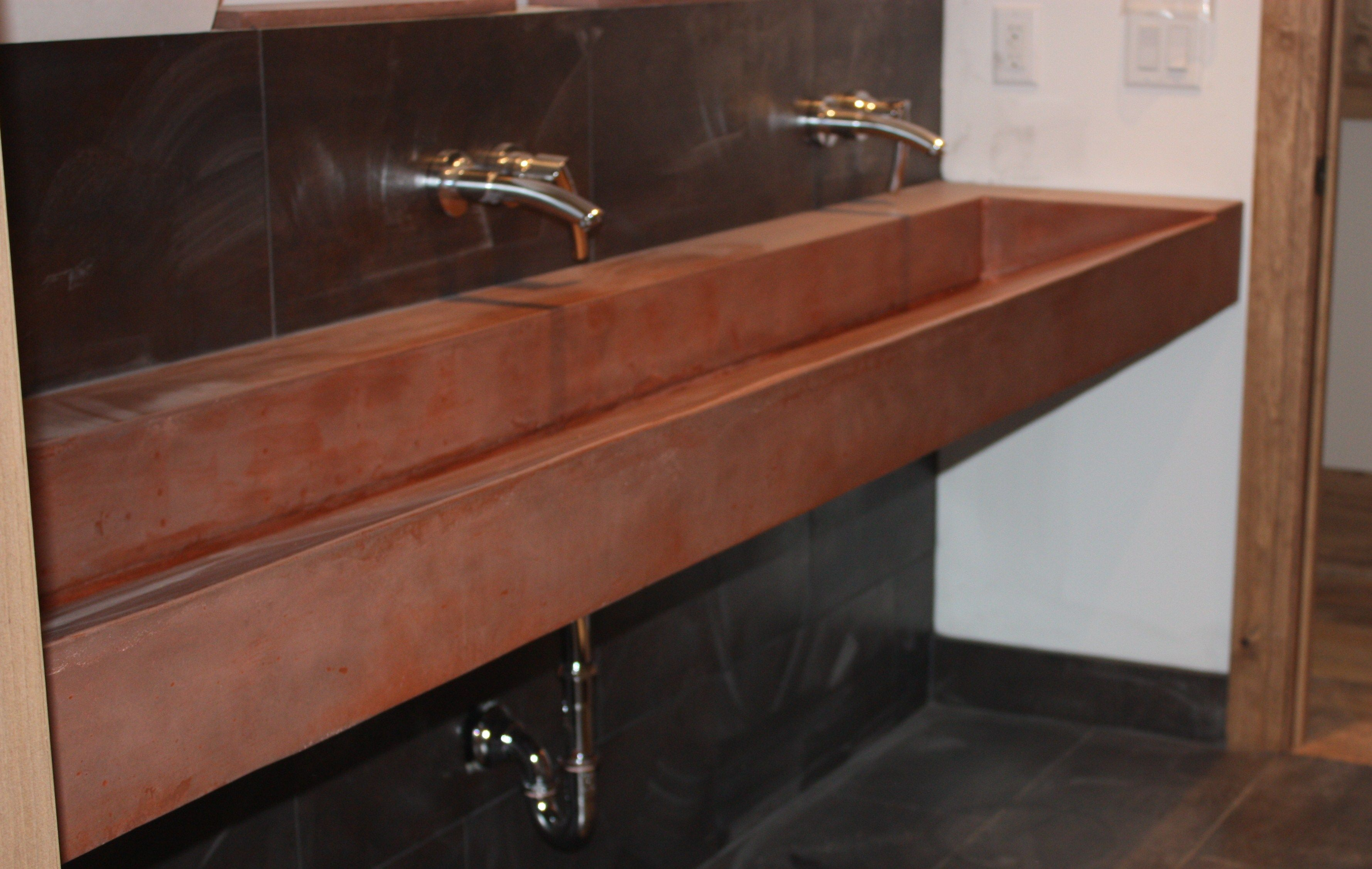 1000+ images about trough sinks on pinterest | cement bathroom