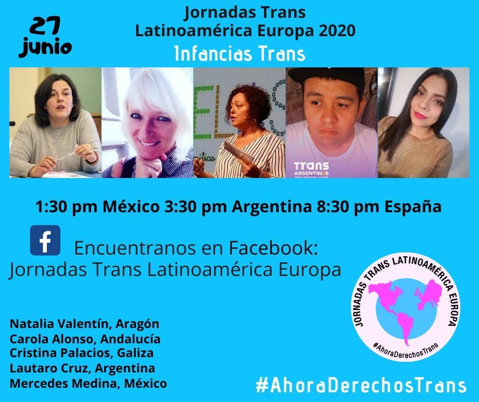 Jornadas Trans Latinoamérica Europa 2020: Infancias Trans