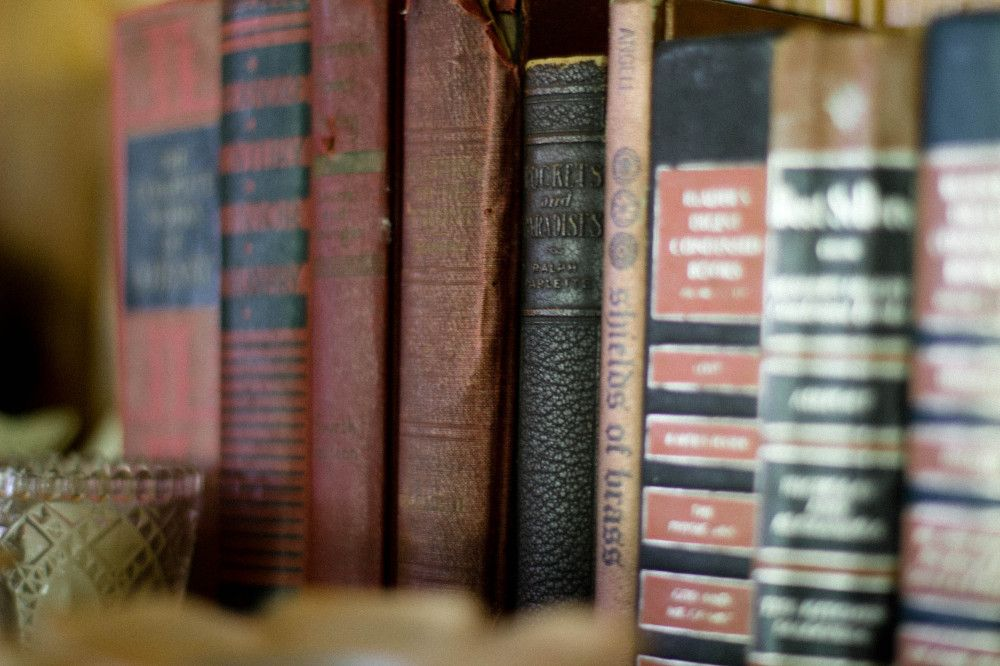 Public Domain Images- Old Books Vintage Brown Red