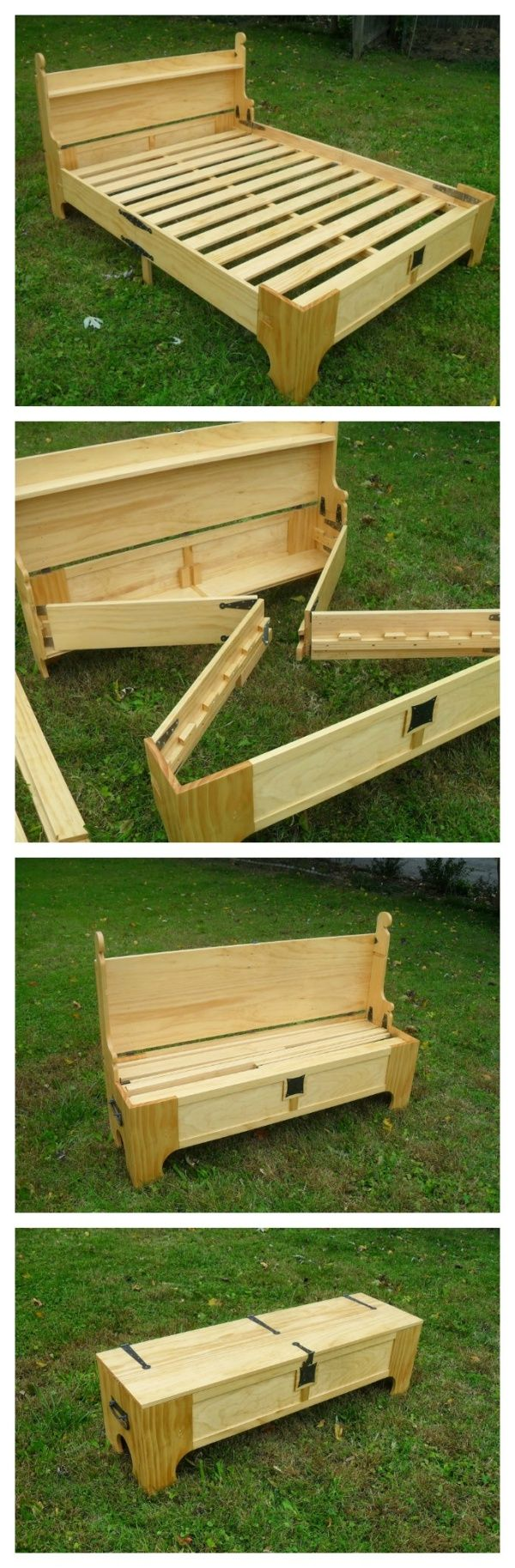 Photo of Amazing Custom Bed Folds Into a Chest For Easy Storage