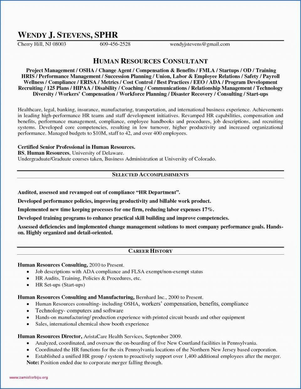 Human Resources Resume Objectives Human Resources Objective For
