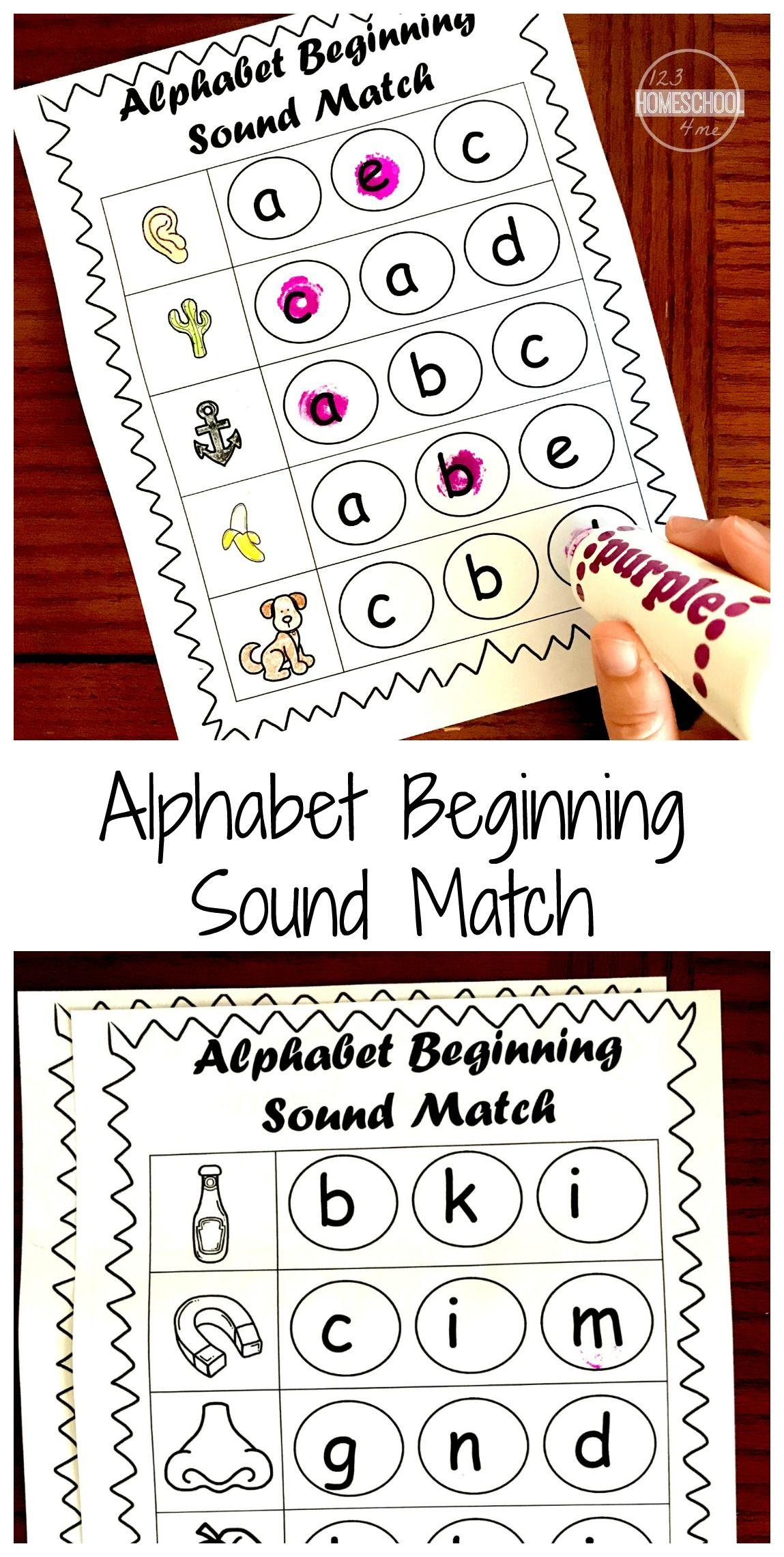Free Beginning Sounds Worksheets Beginning Sounds Worksheets Phonics Kindergarten Kindergarten Phonics Worksheets [ 2282 x 1149 Pixel ]