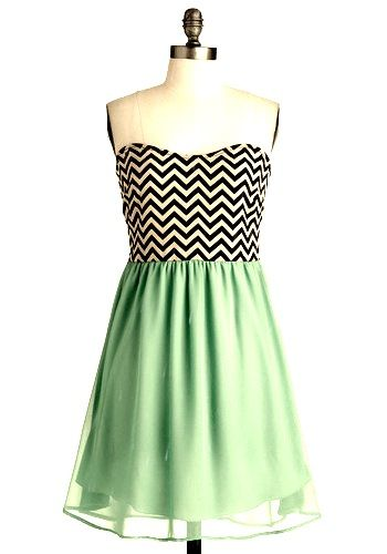 Chevron and mint green.