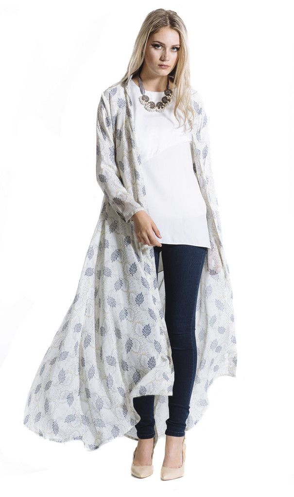 You will feel Ultra Chic in this Chiffon Maxi Cardigan. This chic ...