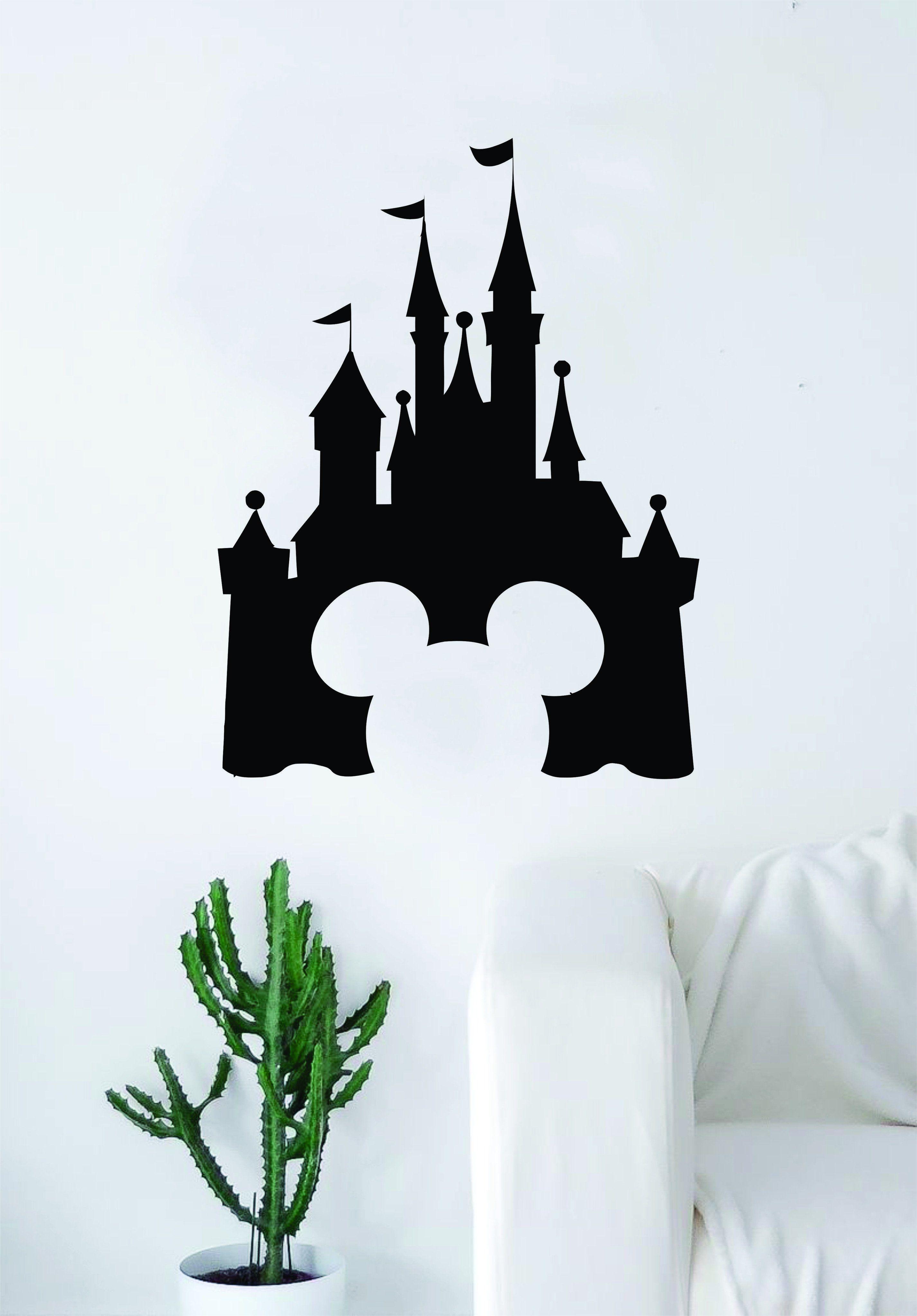 Photo of Disney Castle Mickey Mouse Decal Sticker Wall Vinyl Decor Art Movie Baby Teen Disney Girl Princess Cute Disneyland – saphire blue