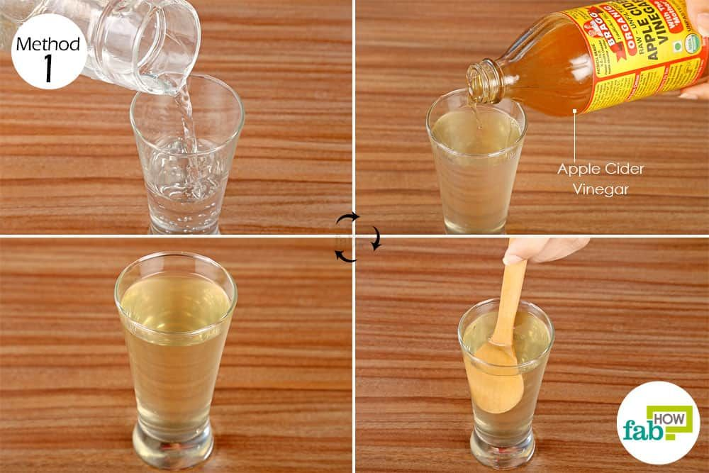 Drink diluted apple cider vinegar once daily to get rid of