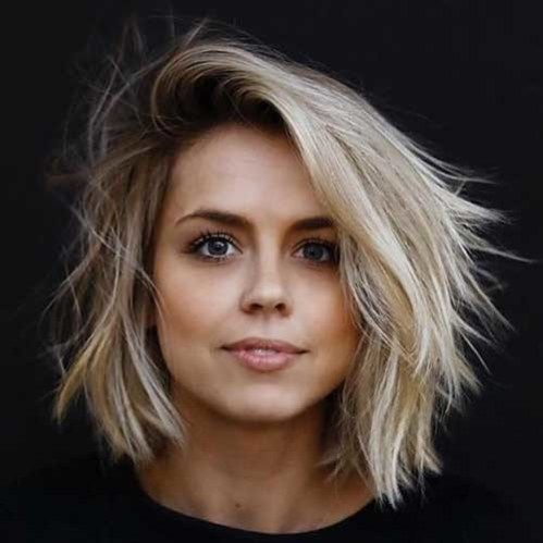 2018 Latest Layered Short Haircuts for Round Faces - The UnderCut -   11 hair 2018 round face ideas