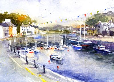 Sherry Schmidt - Watercolor for the Virtual Paintout, Isle of Man
