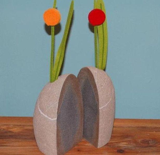 Blumentöpfe & -vasen - Blumenvase Zwilling aus einem Stein - ein Designerstück von Louvre-Cologne bei DaWanda